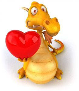 Dragon with the big and loving heart