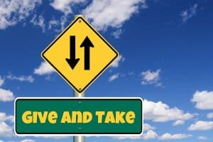 Give and Take - the Spiritual two-way energies Law; in giving we are receiving